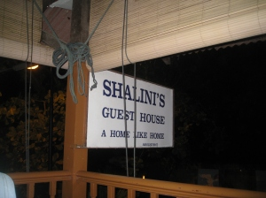 Shalini's Guesthouse where we stayed
