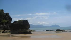 A beach nearby at Bako National Park