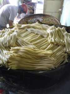 Cau Lao noodles freshly made