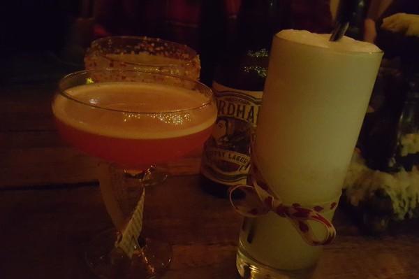 Cocktails at Plotting Parlour
