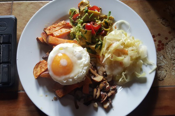 sauerkraut, breakfast, healthy eating