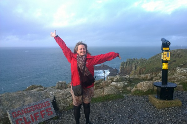 Me at the edge of the UK- Lands End, Cornwall