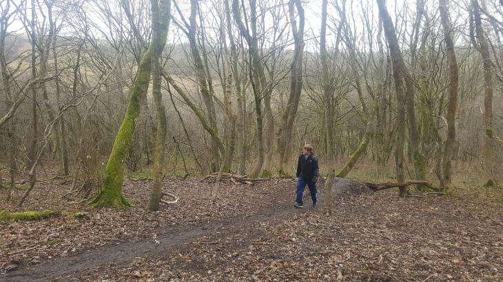 daz walking in wild park