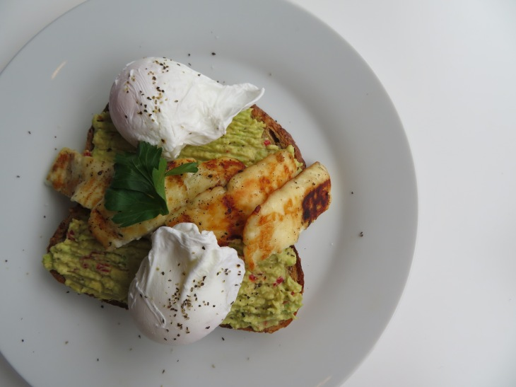 Body Fuel Avocado breakfast with halloumi