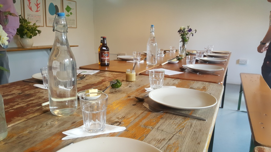 table setting at old dairy kitchen trill farm