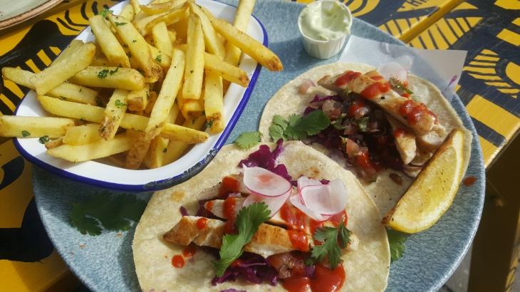 lunch deal temple bar, gluten free chicken tacos