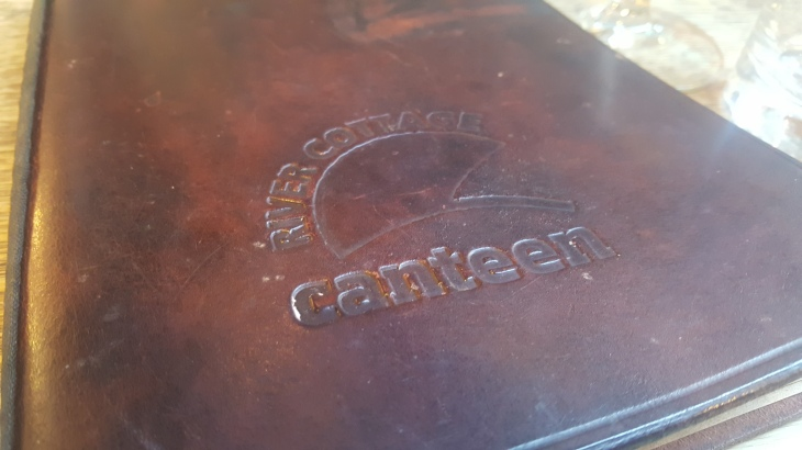 river cottage canteen axminster menu cover