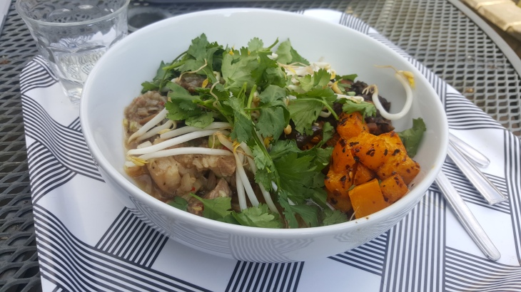 vietnamese and aubergine pork shoulder